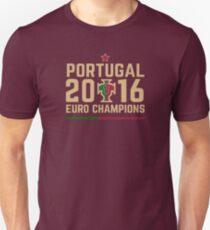 Camiseta ajustada Camisetas de campeones de Portugal Euro 2016, etc. ID-2