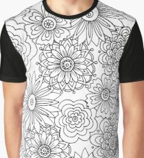 Cool Flowers Graphic T-Shirt