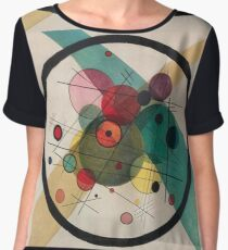 Kandinsky Abstract Painting Chiffon Top