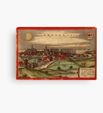 Brouwershaven Vintage map.Geography Netherlands ,city view,building,political,Lithography,historical fashion,geo design,Cartography,Country,Science,history,urban Canvas Print