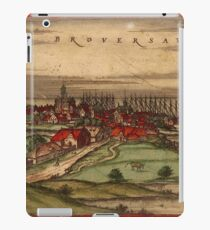 Brouwershaven Vintage map.Geography Netherlands ,city view,building,political,Lithography,historical fashion,geo design,Cartography,Country,Science,history,urban iPad Case/Skin