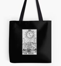 The Moon Tarot Card - Major Arcana - fortune telling - occult Tote Bag