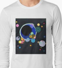 Abstract Kandinsky Painting black and blue Long Sleeve T-Shirt