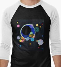 Abstract Kandinsky Painting black and blue Men's Baseball ¾ T-Shirt