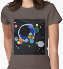 Abstract Kandinsky Painting black and blue Womens Fitted T-Shirt