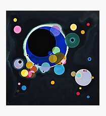 Abstract Kandinsky Painting black and blue Photographic Print