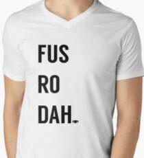Fus Ro Dah Men's V-Neck T-Shirt