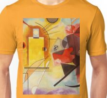 Yellow and Blue Kandinsky painting Unisex T-Shirt