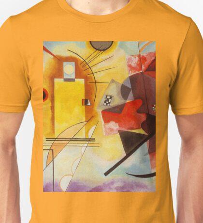 Yellow and Blue Kandinsky painting Unisex T-Shirt