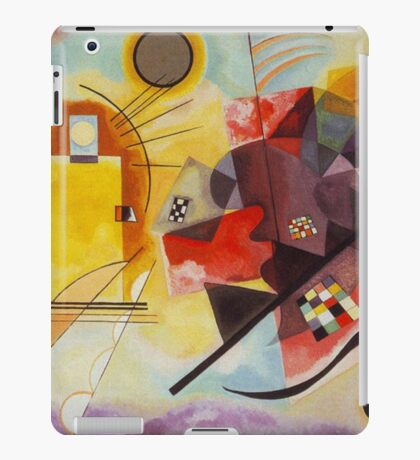 Yellow and Blue Kandinsky painting iPad Case/Skin