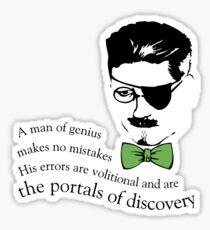 James Joyce Ulysses man of genius Sticker