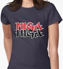 NIGAHIGA Two Layer Womens Fitted T-Shirt