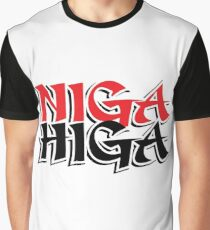 NIGAHIGA Two Layer Graphic T-Shirt