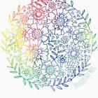 Rainbow Flowers by TangerineMeg