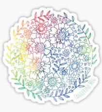 Rainbow Flowers Sticker