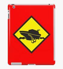 DANGER warning sign Cruise liner boat crossing iPad Case/Skin