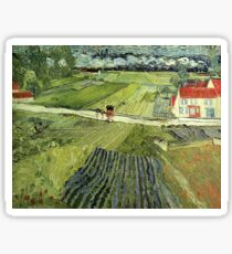 Landscape with Carriages Van Gogh Sticker