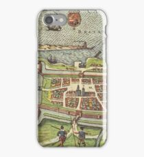 Calais Vintage map.Geography France ,city view,building,political,Lithography,historical fashion,geo design,Cartography,Country,Science,history,urban iPhone Case/Skin
