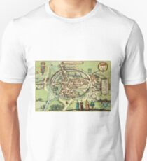 Canterbury Vintage map.Geography Great Britain ,city view,building,political,Lithography,historical fashion,geo design,Cartography,Country,Science,history,urban Unisex T-Shirt