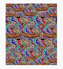 Human Donut Sprinkles Pattern Photographic Print