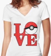 Poke-Love Women's Fitted V-Neck T-Shirt