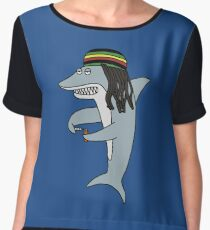 Reggae Shark Chiffon Top