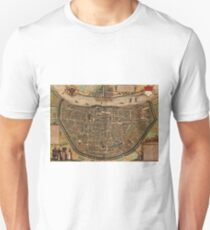 Cologne Vintage map.Geography Germany ,city view,building,political,Lithography,historical fashion,geo design,Cartography,Country,Science,history,urban T-Shirt