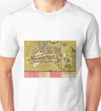 Cork Vintage map.Geography Irland ,city view,building,political,Lithography,historical fashion,geo design,Cartography,Country,Science,history,urban T-Shirt