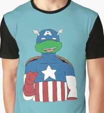 American Turtle Graphic T-Shirt