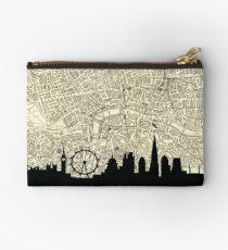 Bolso de mano Mapa de Londres Skyline sobre Vintage