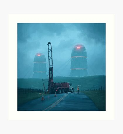 Roadwork Art Print