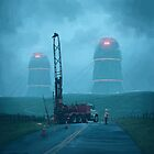 Roadwork by Simon Stålenhag
