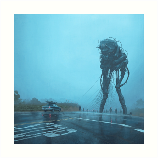 The Procession by Simon Stålenhag