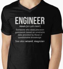 Engineer Shirt Men's V-Neck T-Shirt