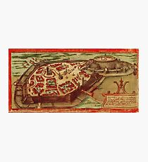 Gotha Vintage map.Geography Germany ,city view,building,political,Lithography,historical fashion,geo design,Cartography,Country,Science,history,urban Photographic Print