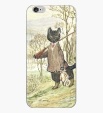 Hunting Black Cat by Beatrix Potter iPhone Case