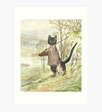 Hunting Black Cat by Beatrix Potter Art Print