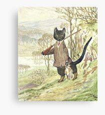 Hunting Black Cat by Beatrix Potter Canvas Print