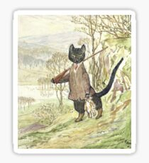 Hunting Black Cat by Beatrix Potter Sticker