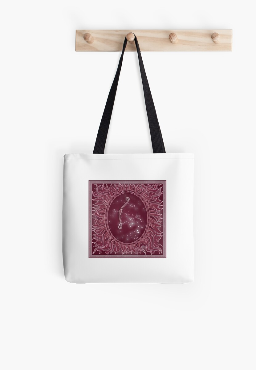 'Sagittarius - Zodiac fire sign' Tote Bag by chartofthemomen