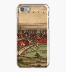 Brouwershaven Vintage map.Geography Netherlands ,city view,building,political,Lithography,historical fashion,geo design,Cartography,Country,Science,history,urban iPhone Case/Skin