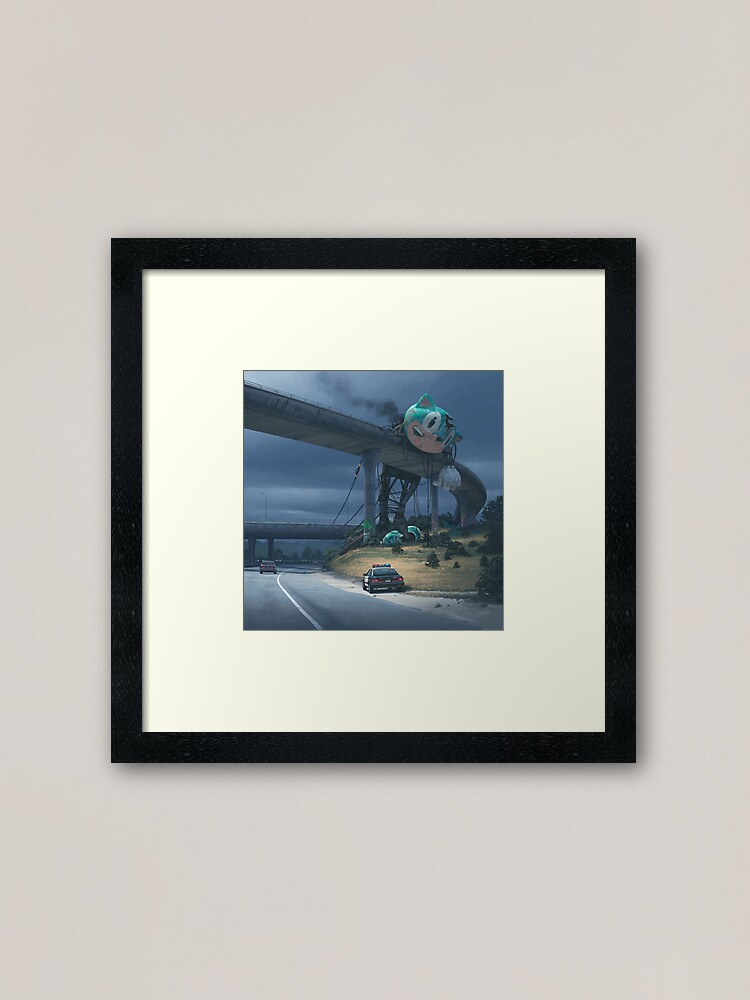Alternate view of Incident On The Edge Of Town Framed Art Print