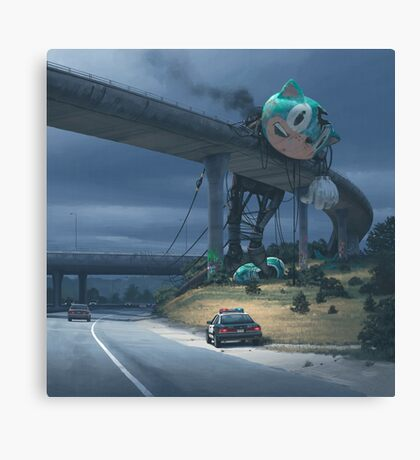Incident On The Edge Of Town Canvas Print