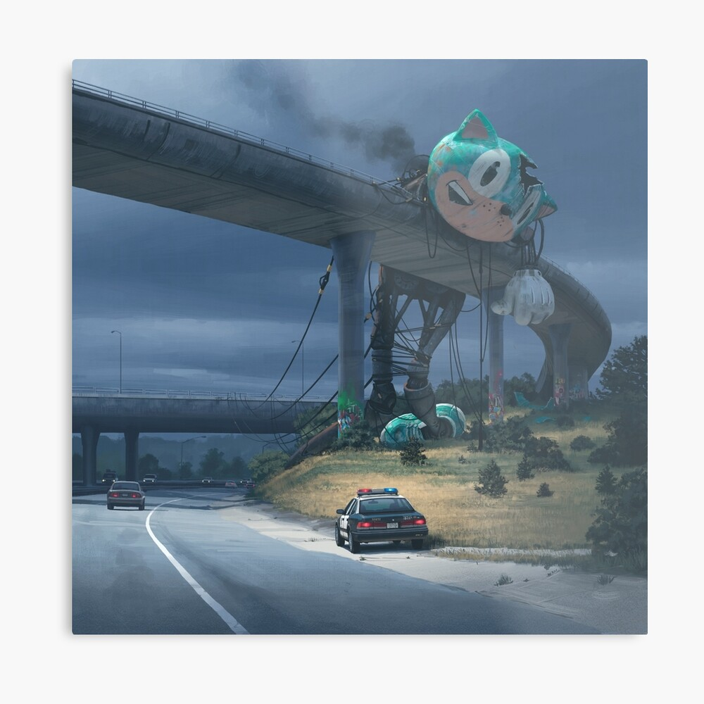 Incident On The Edge Of Town Metal Print