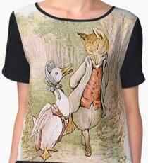 Jemima Puddleduck and the Fox Women's Chiffon Top