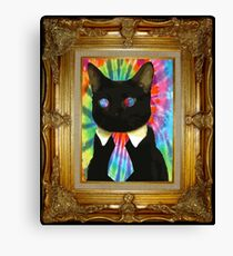 Psychedelic Business Cat Canvas Print