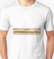 Bonn Vintage map.Geography Germany ,city view,building,political,Lithography,historical fashion,geo design,Cartography,Country,Science,history,urban Unisex T-Shirt