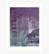 Purple abstract Art Print
