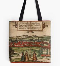 Budapest Vintage map.Geography Hungary ,city view,building,political,Lithography,historical fashion,geo design,Cartography,Country,Science,history,urban Tote Bag
