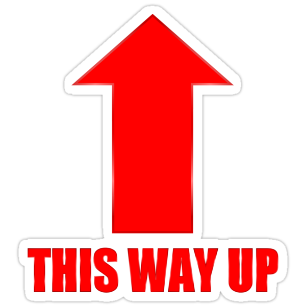 """""""This Way Up"""" Stickers by kerchow 